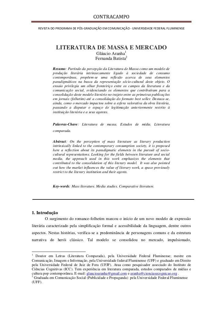 CONTRACAMPO       REVISTADOPROGRAMADEPÓS‐GRADUAÇÃOEMCOMUNICAÇÃO‐UNIVERSIDADEFEDERALFLUMINENSE                 ...