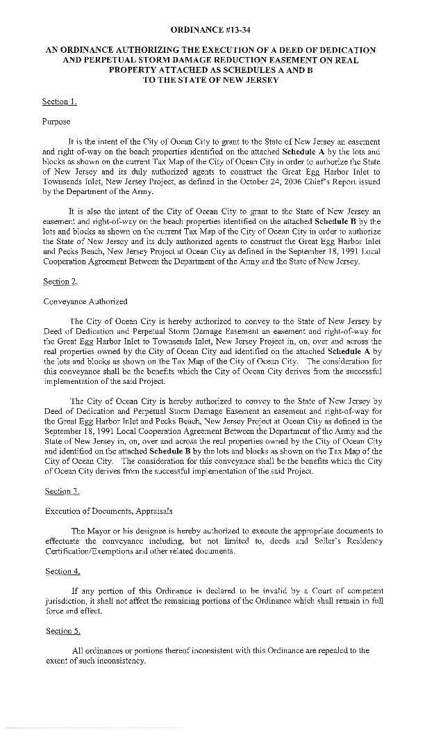 Ocean City Council agenda Nov. 7, 2013