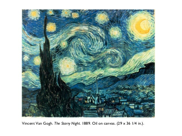 An introduction to an analysis of the artwork by vincent van gogh