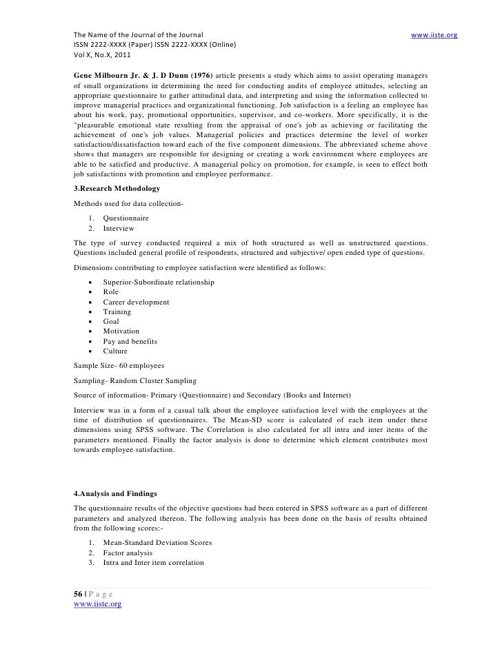 journal employee attitudes and job satisfaction Australian journal of commerce  there is confusion and debate among of employee attitudes and job satisfaction even at a time  job satisfaction, job.