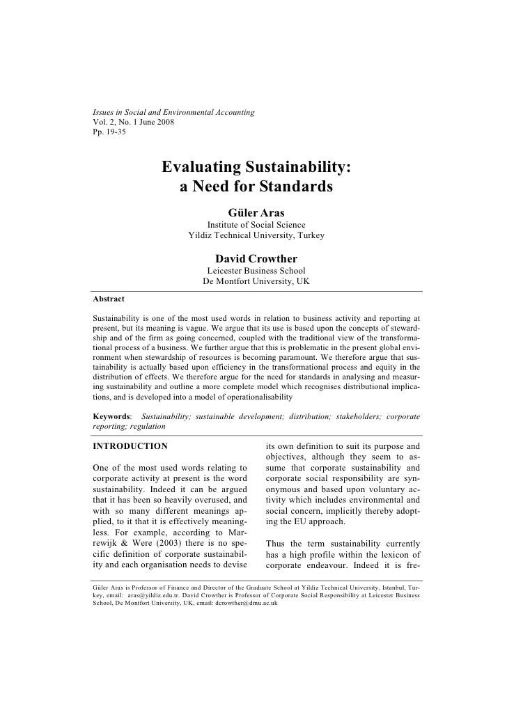 Issues in Social and Environmental AccountingVol. 2, No. 1 June 2008Pp. 19-35                        Evaluating Sustainabi...