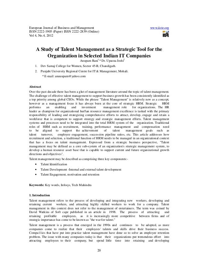 European Journal of Business and Management www.iiste.org ISSN 2222-1905 (Paper) ISSN 2222-2839 (Online) Vol 4, No.4, 2012...