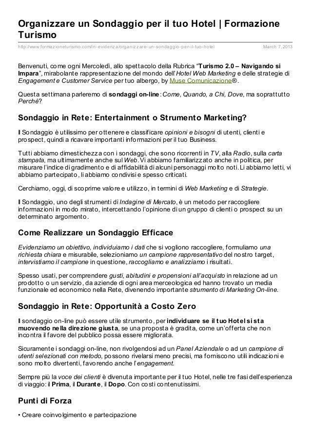 Organizzare un Sondaggio per il tuo Hotel | FormazioneTurismohttp://www.formaz ioneturismo.com/in- evidenz a/organiz z are...