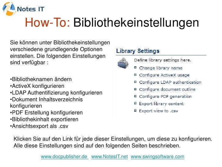 How-To: Bibliothekeinstellungen Sie können unter Bibliothekeinstellungen verschiedene grundlegende Optionen einstellen. Di...