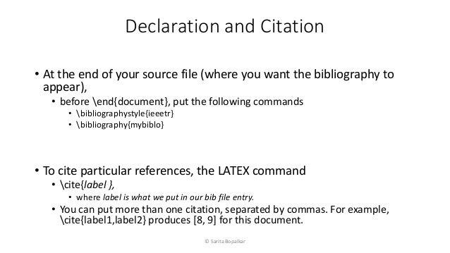 10 Bibliography In Latex