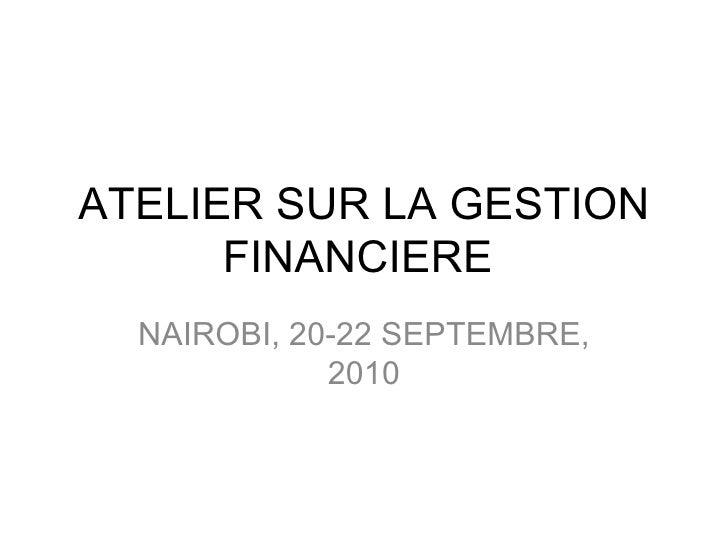 Burundi: Atelier sur la gestion financiere