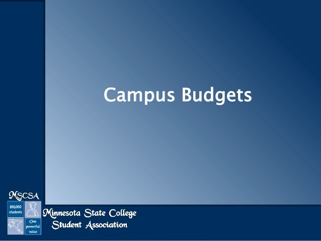 Campus Budgets