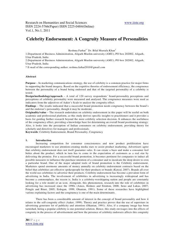 Celebrity endorsement agreements