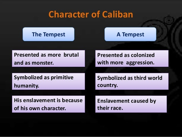 colonization and slavery in the tempest a play by william shakespeare Introduction colonization is a recurrent theme dealt by shakespeare throughout his play the tempest evidence that caliban is colonized by prospero is that he is prospero's slave relevant essay suggestions for theme of colonization in the tempest.