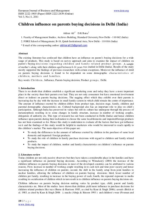 European Journal of Business and Management www.iiste.org ISSN 2222-1905 (Paper) ISSN 2222-2839 (Online) Vol 3, No.11, 201...