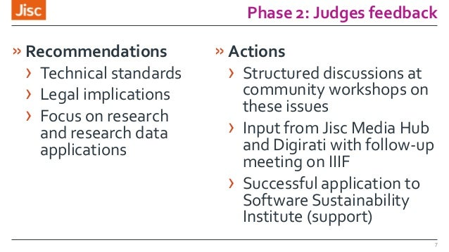 Phase 2: Judges feedback »Recommendations › Technical standards › Legal implications › Focus on research and research data...