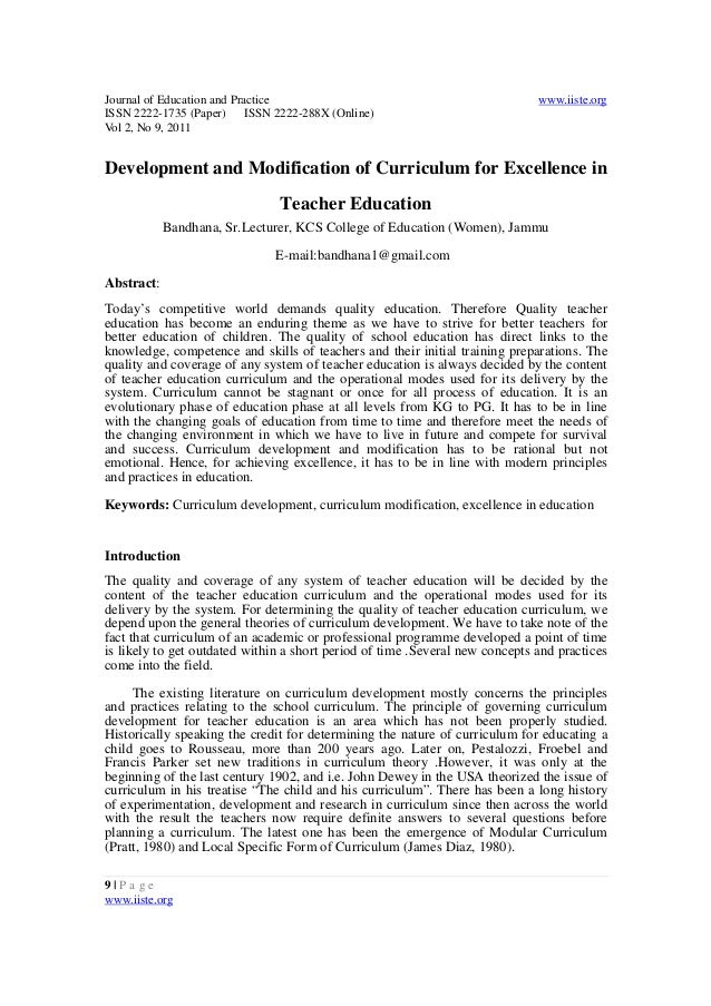 Journal of Education and Practice www.iiste.org ISSN 2222-1735 (Paper) ISSN 2222-288X (Online) Vol 2, No 9, 2011 9   P a g...