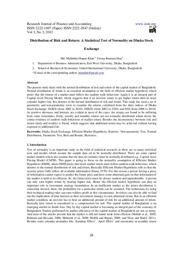 Research Journal of Finance and Accounting www.iiste.org ISSN 2222-1697 (Paper) ISSN 2222-2847 (Online) Vol 3, No 3, 2012 ...