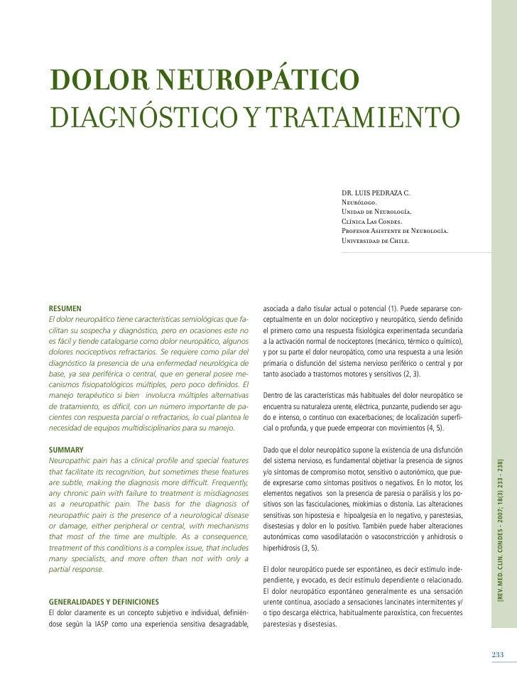DOLOR NEUROPÁTICO DIAGNÓSTICO Y TRATAMIENTO                                                                               ...