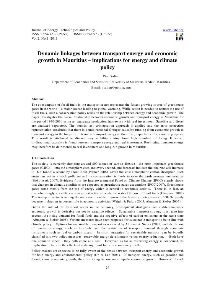 Journal of Energy Technologies and Policy                                                     www.iiste.orgISSN 2224-3232 ...