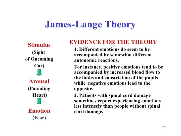 james and lange theory of emotion
