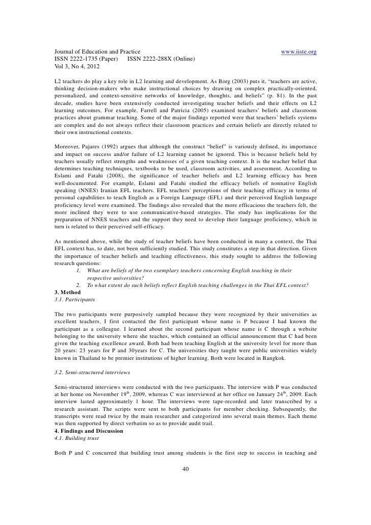 teachers efficacy essay Questionnaires relating to bullying in schools can serve a number of  they can help teachers to understand the attitudes and beliefs of students about  an essay.