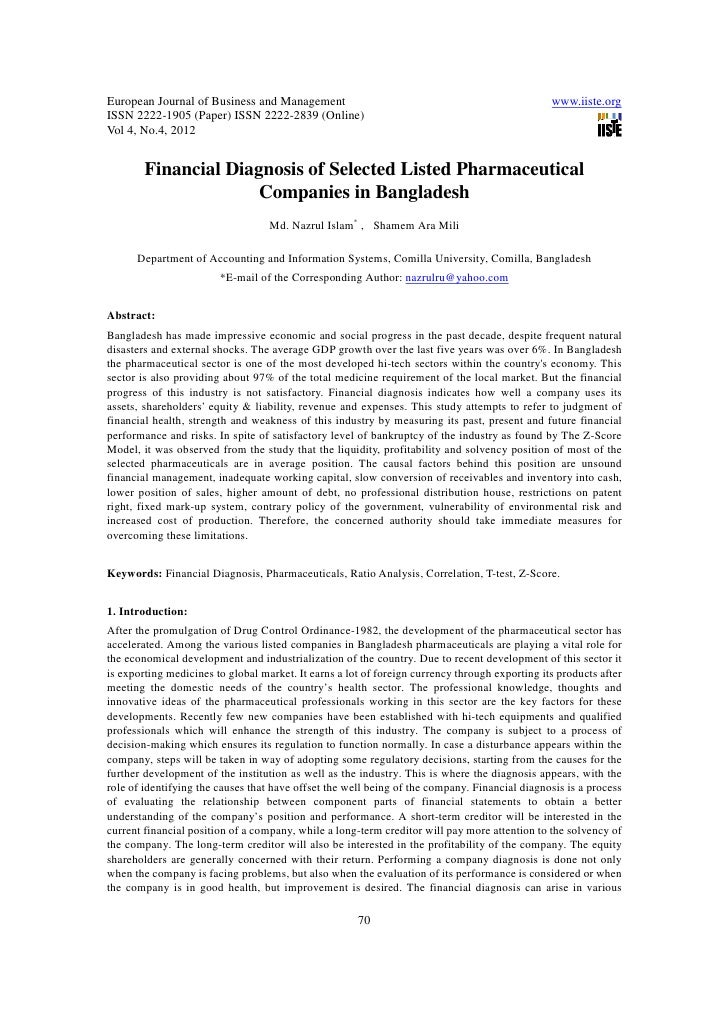 financial analysis of selected pharmaceutical companies International journal of applied financial technical analysis of selected pharmaceutical companies technical analysis, pharmaceutical companies.