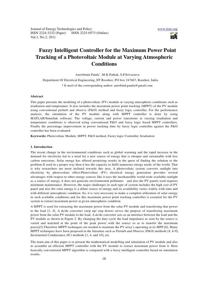 Journal of Energy Technologies and Policy                                                     www.iiste.orgISSN 2224-3232 ...