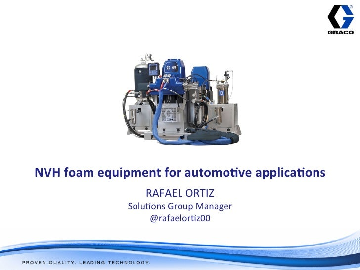 NVH foam equipment for automo1ve applica1ons                                                                  ...