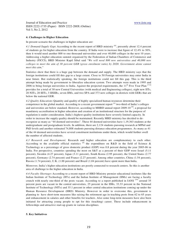 demand on higher education past and present essay Education in the past, present and future education in the past:  the higher education was imparted through schools of learning while the vocational and professional training was given within the caste structure sanskrit and arabic or persian was the mediums of instruction  essay on students' unrest in india.