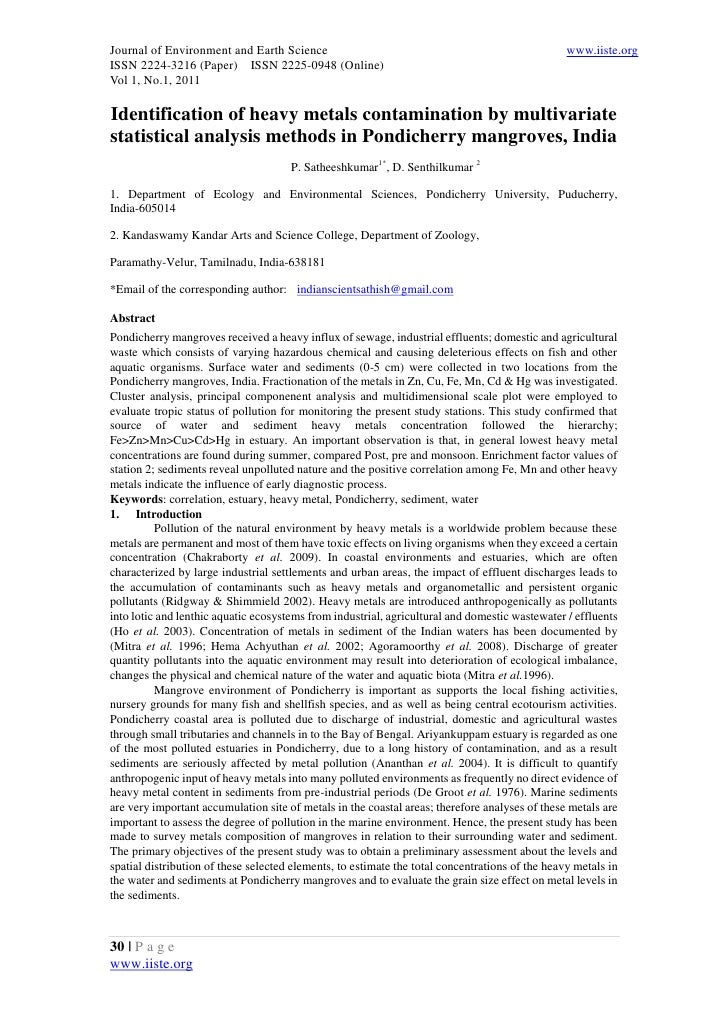 Journal of Environment and Earth Science                                                         www.iiste.orgISSN 2224-32...