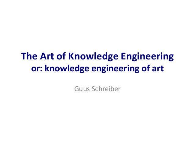 The Art of Knowledge Engineering or: knowledge engineering of art Guus Schreiber