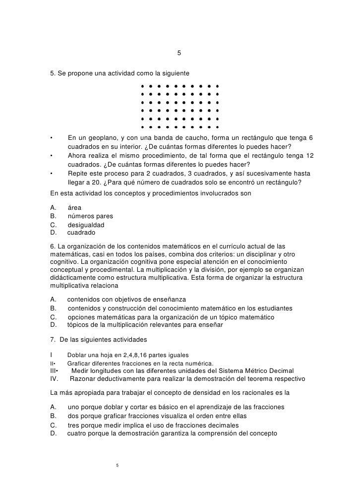 Simulacro Matemáticas