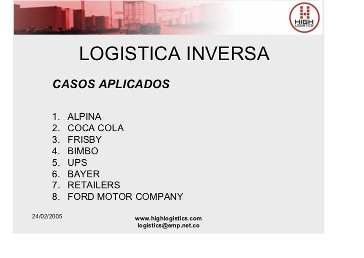 11 logistica inversa y verde high logistics for Bayer motor company ford