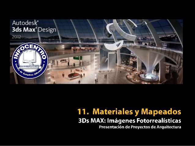 3Ds MAX - 11 materiales