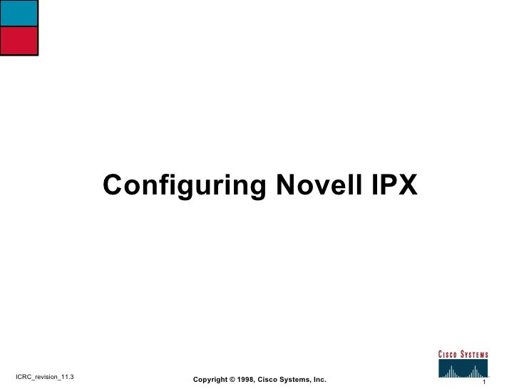Configuring Novell IPX