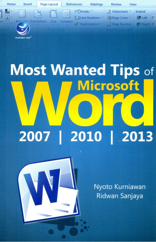 Tips Wanted In Case Of 17 Year Old Girl Missing Since: Most Wanted Tips Of Microsoft Word 2007,2010,2013 (Preview