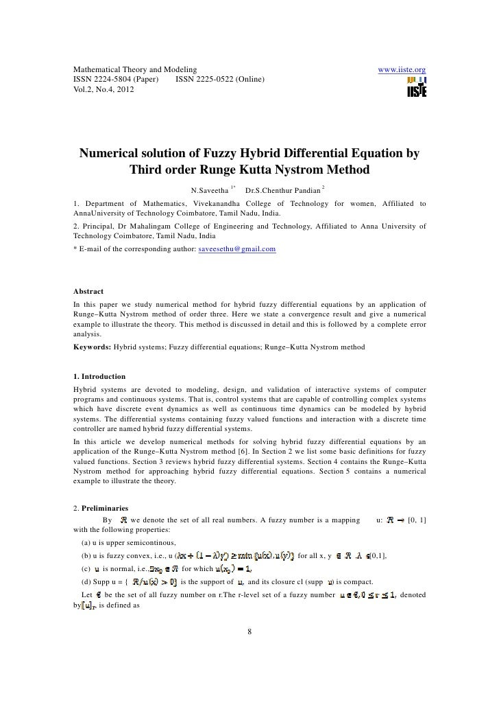 Mathematical Theory and Modeling                                                                    www.iiste.orgISSN 2224...