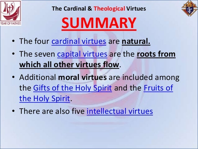 an analysis of the topic of the cardinal virtues Plato's 4 virtues topics: virtue for these reasons, the four cardinal virtues exist.