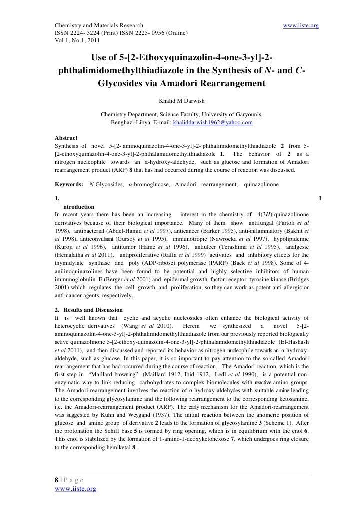 Chemistry and Materials Research                                                             www.iiste.orgISSN 2224- 3224 ...