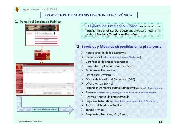 Plan de modernizaci n ayuntamiento de alzira for Oficina de empadronamiento