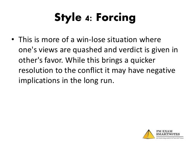 Ways to solve conflict