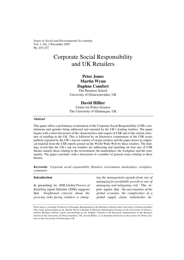 Issues in Social and Environmental AccountingVol. 1, No. 2 December 2007Pp. 243-257                   Corporate Social Res...