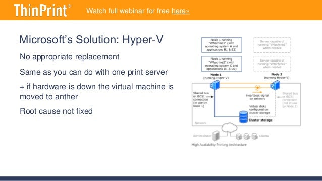 High Availability for Printing – ThinPrint 11 Preview