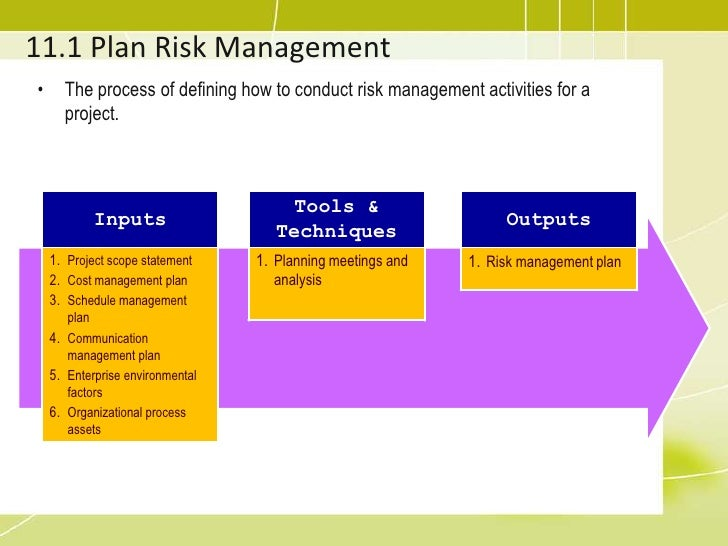 PMP Training 11 project risk management – Risk Management Plan