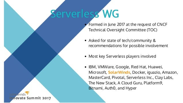 Describes & defined Serverless Highlights promising use cases and areas where they've already proven value Differentiates Se...