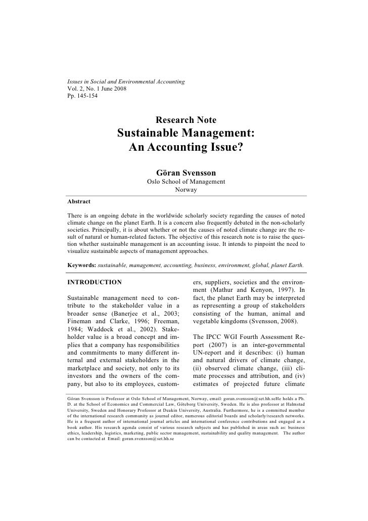 Issues in Social and Environmental AccountingVol. 2, No. 1 June 2008Pp. 145-154                                           ...