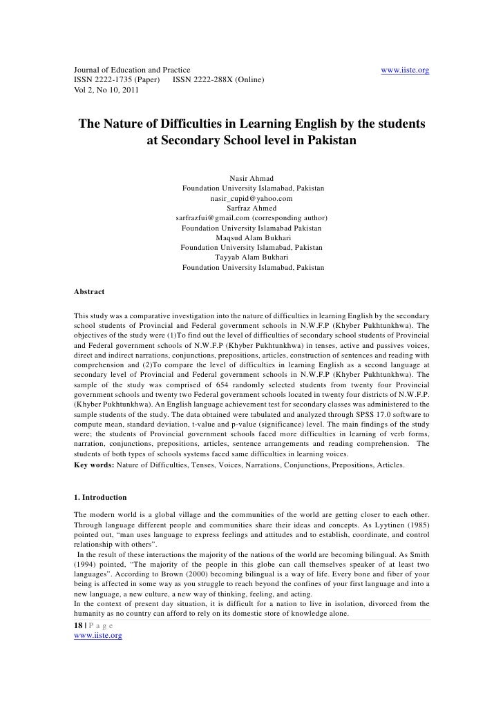 learning english difficulties essay help