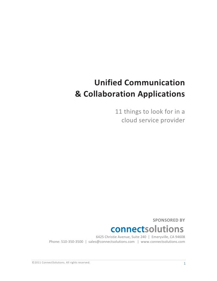 Unified Communication                                & Collaboration Applications                                         ...