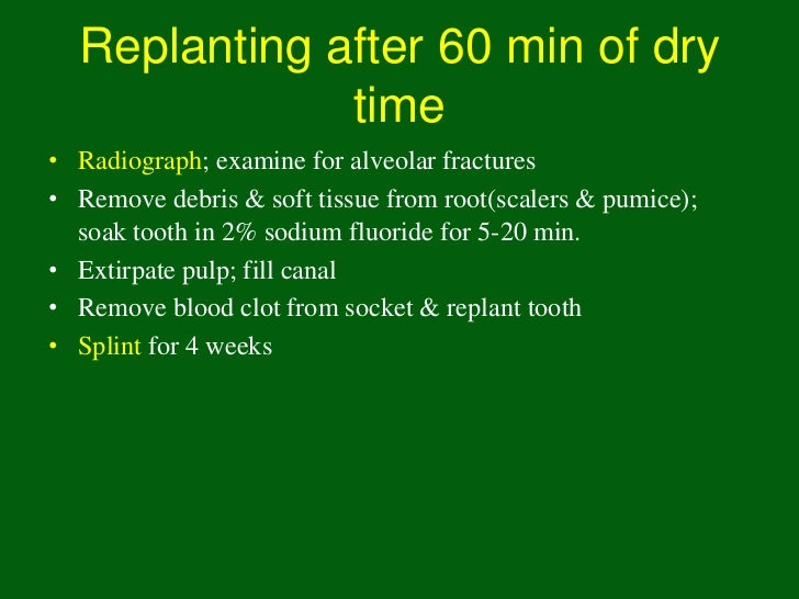 Periodontal Ligament             Responses• Replacement resorption     (Ankylosis)  – Direct union of bone and    root  – ...
