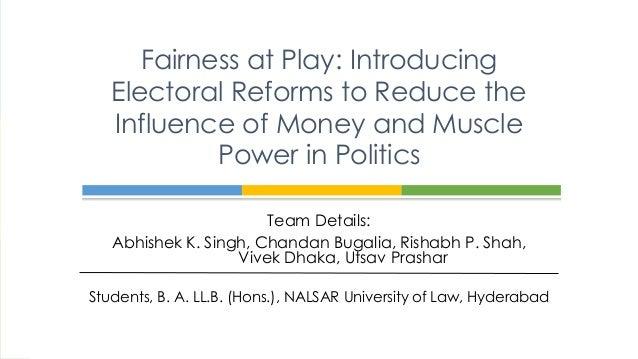 Team Details: Abhishek K. Singh, Chandan Bugalia, Rishabh P. Shah, Vivek Dhaka, Utsav Prashar Students, B. A. LL.B. (Hons....