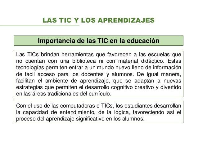 Uso De TIC En El Aprendizaje