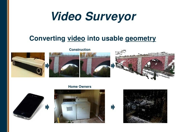 Video SurveyorConverting video into usable geometry           Construction           Home Owners