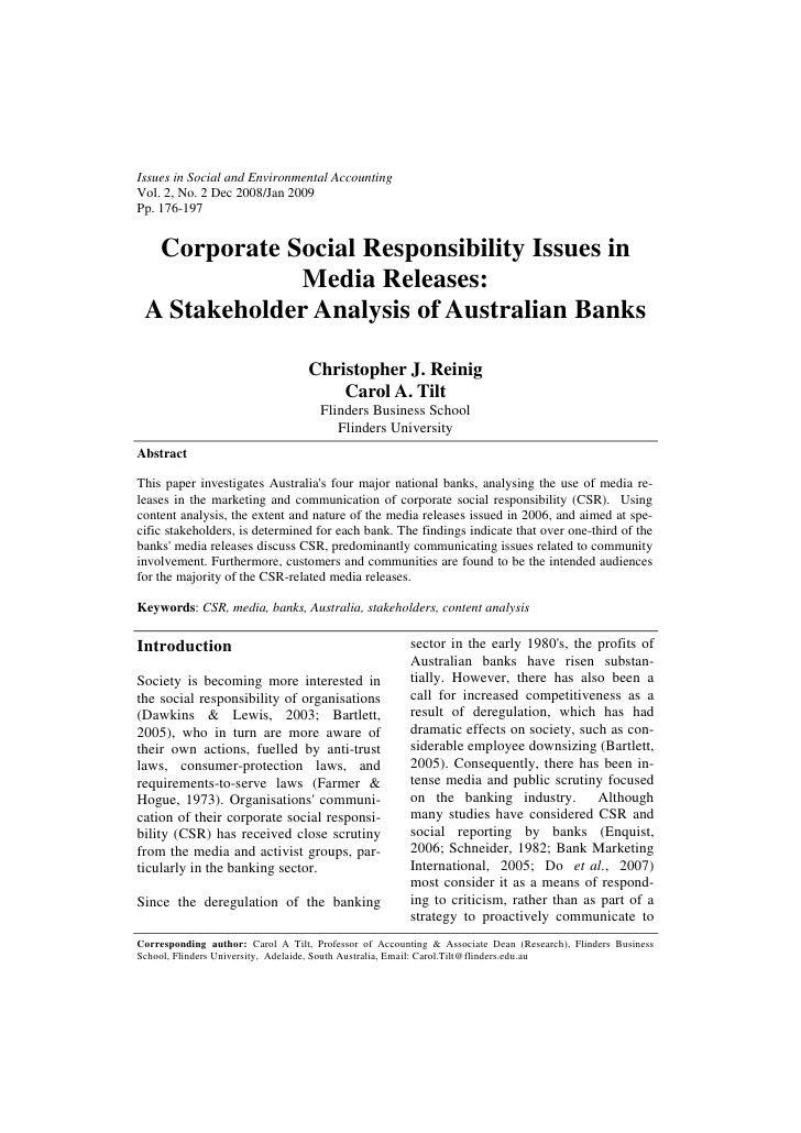 Issues in Social and Environmental AccountingVol. 2, No. 2 Dec 2008/Jan 2009Pp. 176-197  Corporate Social Responsibility I...