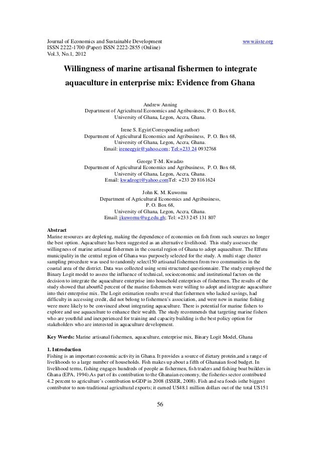 Journal of Economics and Sustainable Development www.iiste.org ISSN 2222-1700 (Paper) ISSN 2222-2855 (Online) Vol.3, No.1,...